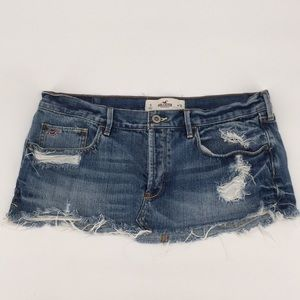 Dresses & Skirts - Hollister Distressed Destroyed Jean Mini Skirt 30